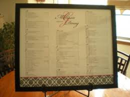 Seating Chart V Place Cards