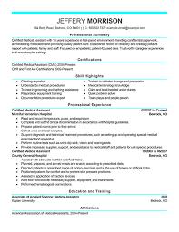 Modern Healthcare Resume Medical Assistant Resume Example Modern Medical Assistant Sample