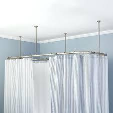 wrap around shower curtain