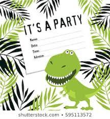 free dinosaur party invitations dinosaur party invites stock illustrations images vectors