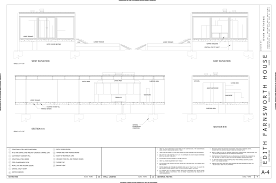 28 collection of farnsworth house elevation drawings high quality