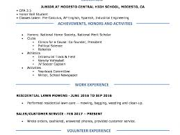 Resume Templates High School Resumes Perfect For Students Free ...