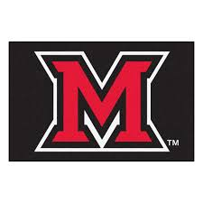 ncaa miami university ohio black 2 ft x 3 ft area