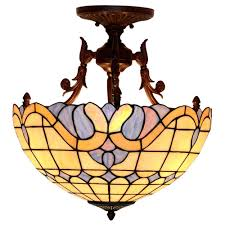 Discount Tiffany Style Lighting Fumat Tiffany Style Stained Glass Handcrafted Ceiling Light Romantic Mediterranean Love Design