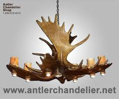 real antler moose pool table chandelier moosepl 8