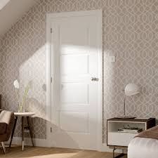 4 panel white interior doors. Simpli Door Set, Severo White 4 Panel - Prefinished. #whitesimplidoorset #doorsetkit Interior Doors
