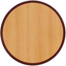 comfortable 48 round two tone resin cherry then mahogany table in round table top