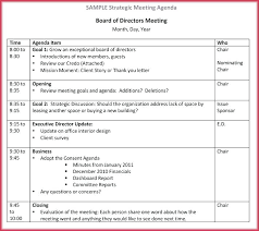 Meeting Agenda Format Template