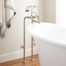contemporary freestanding tub faucet supplies  valves  cross