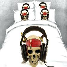 rock and roll bedding set punk skull print rock and roll style themed twin full