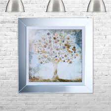 copper money tree framed liquid artwork with copper coins on framed wall art uk with shh interiors copper money tree framed liquid artwork with copper