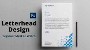 3d Letterhead Design Letterhead Design In Photoshop Tutorial How To Design A Letterhead Maxpoint Hridoy