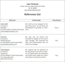 Listing References On Resume Amazing 148 Resume Reference List 24 Ifest