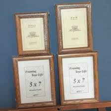 4 x 7 picture frames two 5 oak hanging one 3 1 2 pics word letters 4 x 7 picture frames