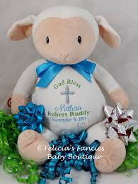 baby gift for baptism lamb personalized stuffed