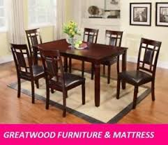 7 piece solid wood dining set for 499 only deal of the week