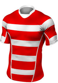 red white stripe rugby shirt