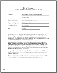 Grant Letter Template Grant Proposal Cover Letter For