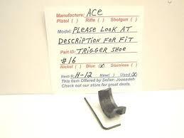 Ace Trigger Shoe Fit Chart Ace Trigger Shoe 16 Item H 12 26 99 Picclick