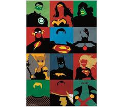 justice league minimalist poster dorm