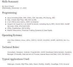 It Skills Resume