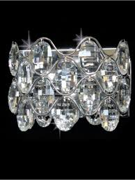 lisabeth chrome crystal wall light