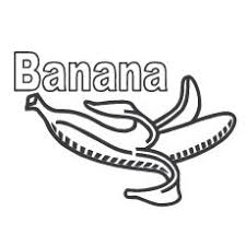 Small Picture Banana Coloring Pages Miakenasnet