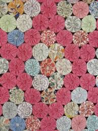 125 best Antique Quilts for sale gb-best on Ebay images on ... & Beautiful 1930s Yo Yo Vintage QUILT Field of Diamonds PINK 84 x 73 Cottage  MINT Adamdwight.com