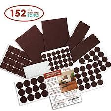 seddox premium felt furniture pads set 152 pieces including bonus rubber per pads self stick extra adhesive hardwood floor protectors felt pads for