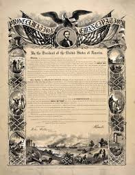 abraham lincoln s views on slavery from the years of  photograph of a reproduction of the emancipation proclamation