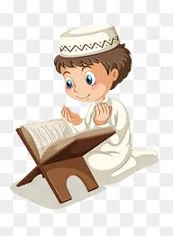 ramadan reading character learn vector diagram png and vector