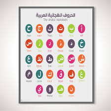 Arabic Chart Alif2yaa Arabic Alphabet Wall Chart
