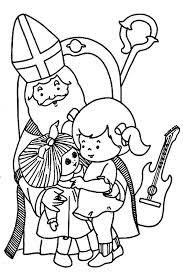 Sinterklaas Kleurplaat Sint En Kindje