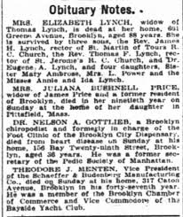 Obituary for ELIZABETH LYNCH - Newspapers.com
