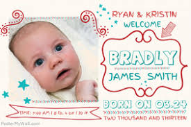 newborn baby announcement sample baby announcement design templates postermywall