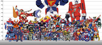 Robot Size Chart Super Robots And Giant Mecha Sized Up