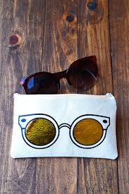 learn how to make a unique diy sunglasses case using heat transfer vinyl and a
