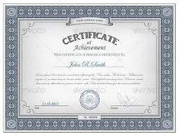 Certificate Of Achievement Templates Free Beauteous Certificate Template Psd Photoshop Free Customcartoonbakery