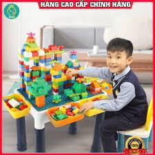 Bàn lego đa năng ⚡LOẠI ĐẸP-FREESHIP⚡ bộ đồ chơi lego, xếp hình, lắp ghép  120 chi tiết nhựa abs cao cấp