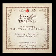 Save The Date For Wedding Beauty And The Beast Fairytale Save The Date 124mm X 124mm Wedding Cards Direct