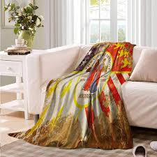 antique detroit flag with fl swirls grungy look vine style old american digital printing blanket 60 x 50 inch multicolor kitchen dining