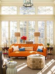 Orange And Blue Living Room Decor Plain White Throw Pillows And Decorative Lumbar Pillow On Orange