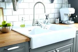 farmhouse sink with drainboard and backsplash farmhouse sink with incredible integrated inside kitchen decor 5 farmhouse