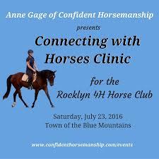 Rocklyn 4h Horse Club 0716 Anne Gage Confident Horsemanship