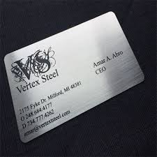 Steel Business Cards Same Day Metal Business Cards