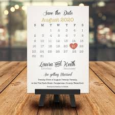 Save The Date For Wedding Wedding Save The Date Love Heart Calendar
