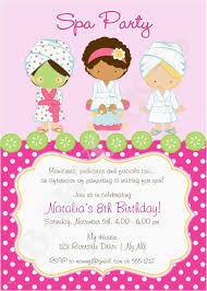 Invites Birthday Party Spa Birthday Party Invitations Elegant Spa Party Invitation