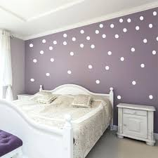 white polka dots on a purple wall in falling pattern dot decals confetti vinyl p