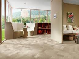 Randomized Flooring Pattern Using Armstrong CushionStep Better Vinyl Sheet    Distant Valley In Echo