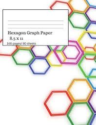 Hexagon Graph Paper Hexagonal Paper Notebooks Large
